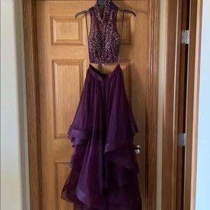 Wine colored prom dress